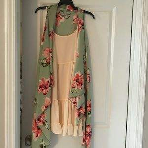 Dresses & Skirts - Maternity dress and floral cardi